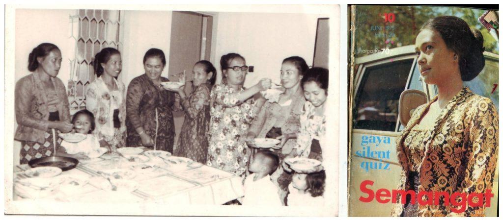 Potret perempuan (1970an) dan arsip majalah Semangat tahun 1975